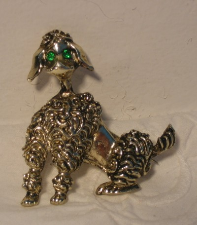 1950s Poodle brooch, possibly by Joseff Hollywood